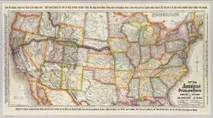 New York Central Railroad Map by New Map Of The American Overland Route David Rumsey Historical
