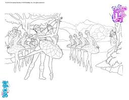 swan lake ballet coloring pages hellokids