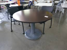 42 round laminate table top 42 round brown laminate top table price reduction tr trading