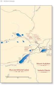Northern Colorado Map by Mount Audubon Indian Peaks Wilderness Area