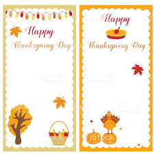 set of thanksgiving templates for invitations or notes