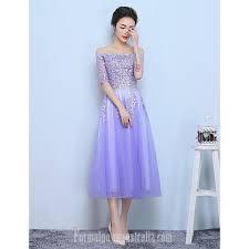 tea length dress australia formal evening dress lilac a line bateau tea length