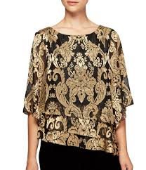 metallic gold blouse gold s casual dressy tops blouses dillards com
