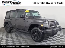 cheap jeep wrangler for sale in orchard park ny west herr auto group