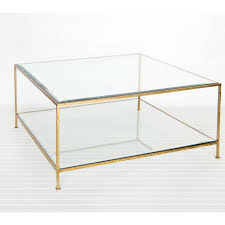 gold and glass table appealing clear square modern gold and glass coffee table design hi