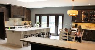 custom kitchen cabinets island rustic alder amish kitchen with hutch home stores