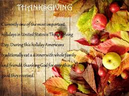 thanksgiving day thanksgiving currently one of the most important