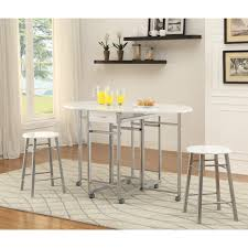 Small Breakfast Nook Table by White Metal 3 Piece Dining Set Small Breakfast Nook Table Wood
