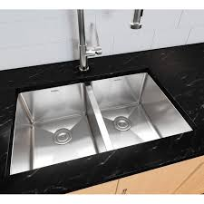 stainless steel double bowl undermount sink ancona prestige series stainless steel 28 x 18 50 50 double bowl