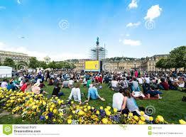 Botanical Gardens Open Air Cinema Enjoying Open Air Cinema In The City Center Of Stuttgart