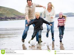 family soccer at smiling stock photography image