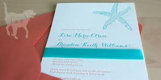 starfish wedding invitations creative lab press a wedding at sea