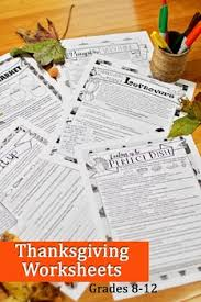 thanksgiving grammar worksheets no prep middle and high school