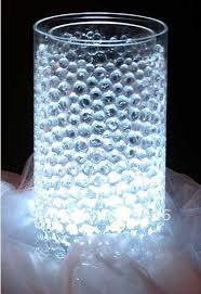 Submersible Led Light Centerpieces by Novely Decoration Crystal Water Beads Pearl Can Match Lamp