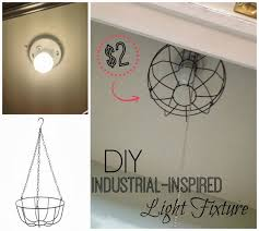 Light Fixture Stores Two It Yourself Diy Dollar Store U0027industrial U0027 Light Fixture