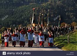 thanksgiving procession in ramsau bavaria bavaria germany