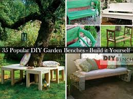Outdoor Wood Bench Diy by 35 Popular Diy Garden Benches You Can Build It Yourself Amazing