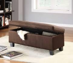 Bedroom Storage Furniture Furniture Dark Brown Fabric Ottoman Storage Bench For Bedroom