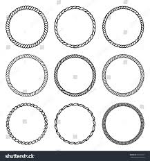 vector set round frame collection stock vector 612567317
