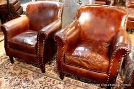Club Armchair Leather Start 360 Product Viewer 1920s Distressed Button Back Leather
