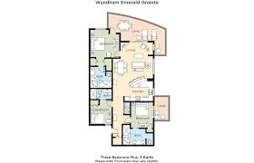 wyndham towers on the grove floor plan club wyndham vacation resorts emerald grande at destin house plan