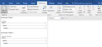 Create Table Of Contents In Word 2013 How To Create A Table Of Contents In Microsoft Word
