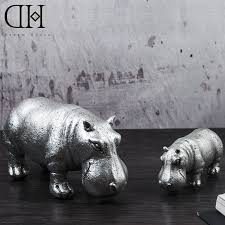 aliexpress com buy creative resin hippopotamus figurines