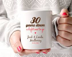 30th wedding anniversary gifts 30th anniversary etsy