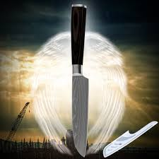online get cheap luxury kitchen knife aliexpress alibaba group cooking tools stainless steel knife santoku inch kitchen laser etched damascus veins luxurious