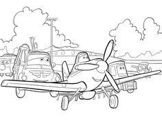 plane dusty friends coloring pages kids printable free