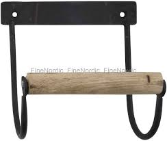 ib laursen toilet paper holder with wooden roll black