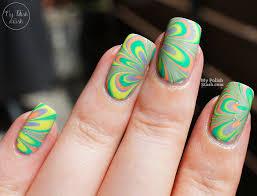 my polish stash essie silk watercolor water marble nail art u0026 review