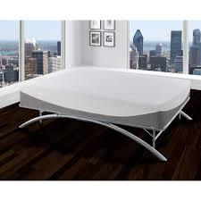 Queen Bedframes Premier Ellipse Arch Platform Bed Frame Brushed Silver Walmart Com