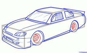 sports car drawing how to draw jeff gordons car 24 step by step sports pop culture