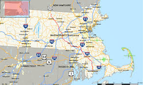 Massachusetts State Map by Massachusetts Route 140 Wikipedia