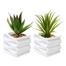 modern white folded design small ceramic plant pot flower planter