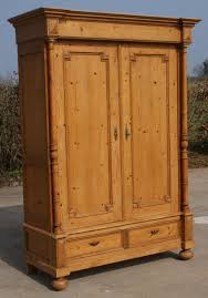Solid Pine Wardrobes Late 19th Century Large Antique French Solid Pine Armoire Wardrobe
