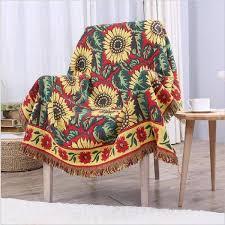 plaid coton canapé couverture pour canapé liée à plaid coton couverture en coton
