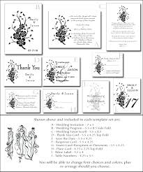 sle wedding program template asian wedding invitation kit 4 diy printable black white templates