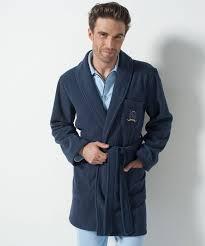 robes de chambre homme robe de chambre en polaire 90 cm marine homme damart