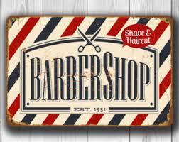 barber shop sign etsy