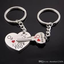 heart key rings images Discount couple i love you letter keychain heart key ring silvery jpg