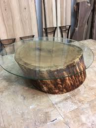 solid white oak live edge table base great coffee table or end