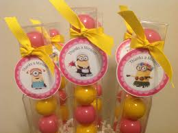 Gumball Party Favors Pink Despicable Me Minion Birthday Party Favor Gumball Candy