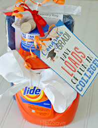 gift ideas for graduation graduation gift idea laundry kit with free printable gift tag