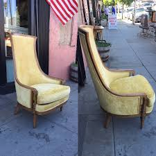 dreams do come true 1960s high back velvet club chair by drexel