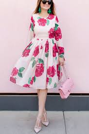 Rachel Parcell Blog Rachel Parcell Floral Print Dress And Pink Chanel Flap Bag