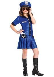 halloween wigs for girls girls blue police officer costume