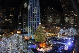 rockefeller plaza christmas tree lighting christmas lights