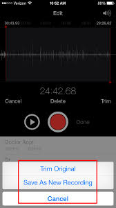 how to edit a voice memo iphonelife com